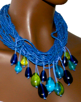 Manouk s212-2 Blue Heaven Ketting / Bijoux / Statement