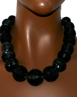 Manouk t077-1 Flash Black Ketting / Bijoux / Statement