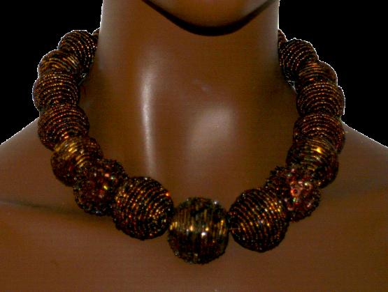 Manouk t077-4 Flash Brass Ketting / bijoux / Statement