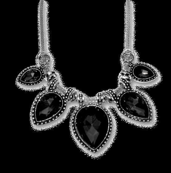 aa006a grijs mahal ketting / bijoux / fashion
