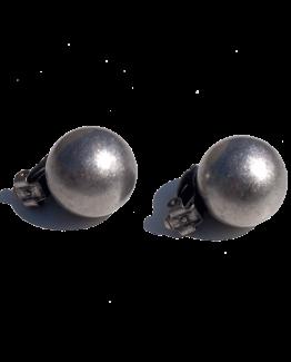 Manouk ff184-2 Glanzend Zilver Oorbellen / bijoux / klassiek / clip
