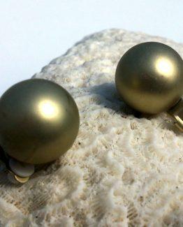 Manouk ff184-3 Mat Goud Oorbellen / bijoux / klassiek / clip