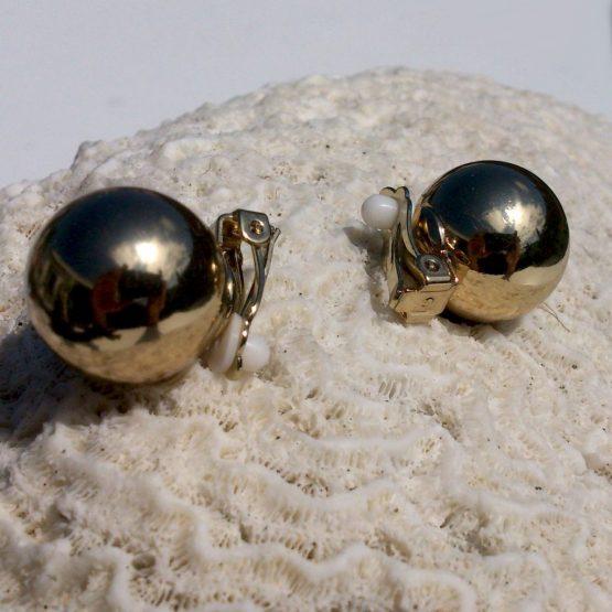 Manouk ff184-5 Glanzend Goud Oorbellen / bijoux / klassiek / clip