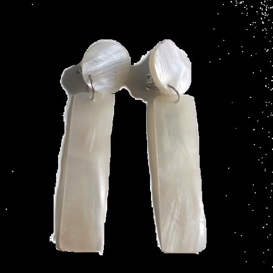 n220-3 Aizza White / Bijoux / parelmoer / natuurlijk