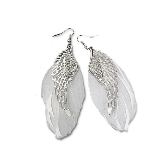 Silver Wing Oorbellen / bijoux / bohemian chic / haakje