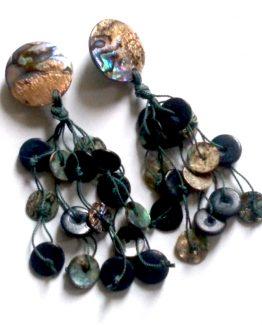 Manouk L172-1 Oorbellen / bijoux / oorclips / parelmoer - meerkleurig