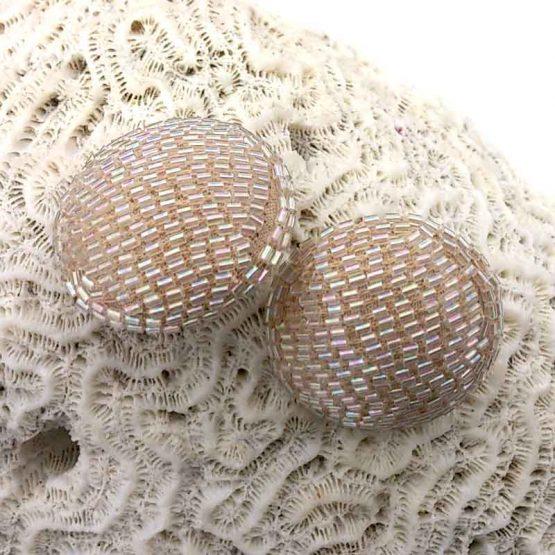 Manouk 6163-3 Beige Straw Oorbellen / bijoux / betaalbaar