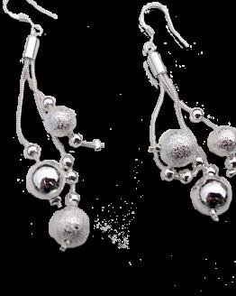 Refraction balls Oorbellen / bijoux / verzilverd / sieraad / haakje