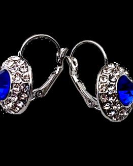 Empress Oorbellen Blauw-Zilver / Bijoux / Voordelig