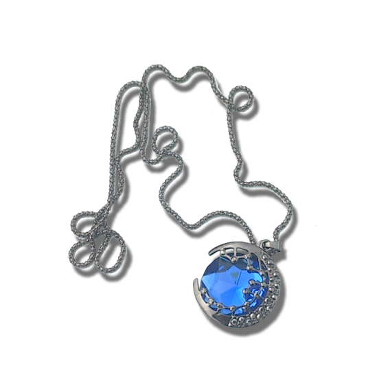 solid blue moon ketting / bijoux / blauw / stralend