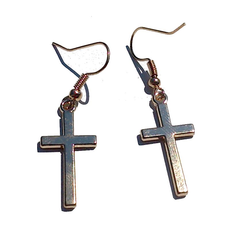 Kruisje Goudkleur / bijoux / religie / haakje