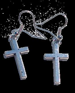 Kruisje Zilverkleur / bijoux / religie / haakje