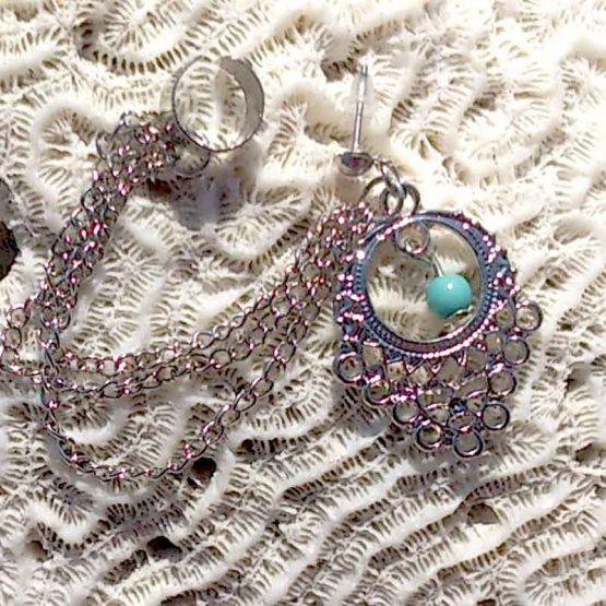 Boho Cuff Oorbellen / bijoux / bohemian / turquoise