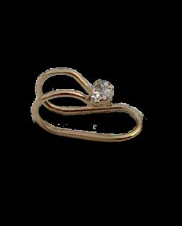 Gold Cuff Small / bijoux / strass / simpel / voordelig