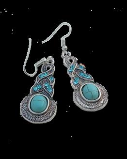 Boho Turquoise Drop Oorbellen / bijoux / set / bohemian - Ibiza Style