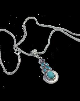 Boho Turquoise Drop Ketting / bijoux / set / bohemian - Ibiza Style