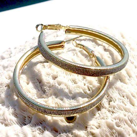 Oorringen Shine Goud / bijoux / groot / earring