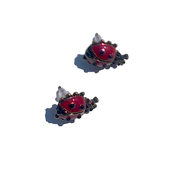 Oorbellen Ladybug / Lieveheersbeestje / knopje / emaille