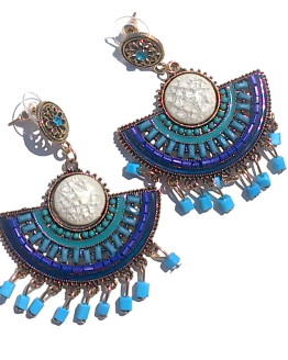 Boho Turquoise Oorbellen / Bijoux / Bohemian / Groot / Statement