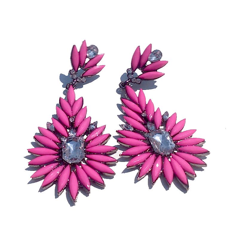 Springtime Oorbellen / bijoux / strass / kleurig / pink