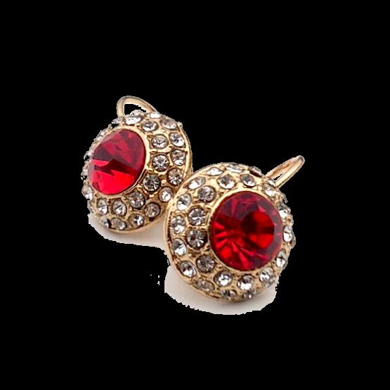 Empress Oorbellen Rood-Goud / Bijoux / Voordelig