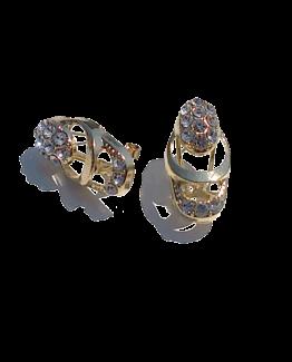Sieraden Set Agafya / bijoux / compleet / goud / strass