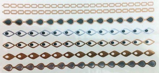Patroon 6 / Tijdelijke Tattoo / Tatoeagestickers /Bohemian / Tribal / meerkleurig /