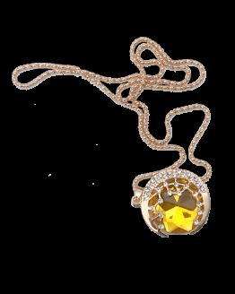 solid yellow sun ketting / bijoux / geel / stralend