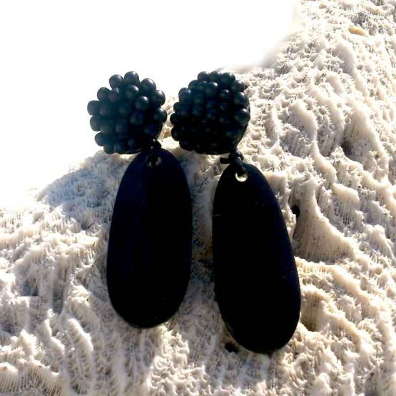 Manouk L175-1 Arina Oorbellen / bijoux / clips / zwart