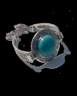 Armband Ibiza / Boho - Bohemian / Turquoise / Zilver