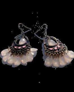 boho droplets oorbellen / bijoux / bohemian / brons