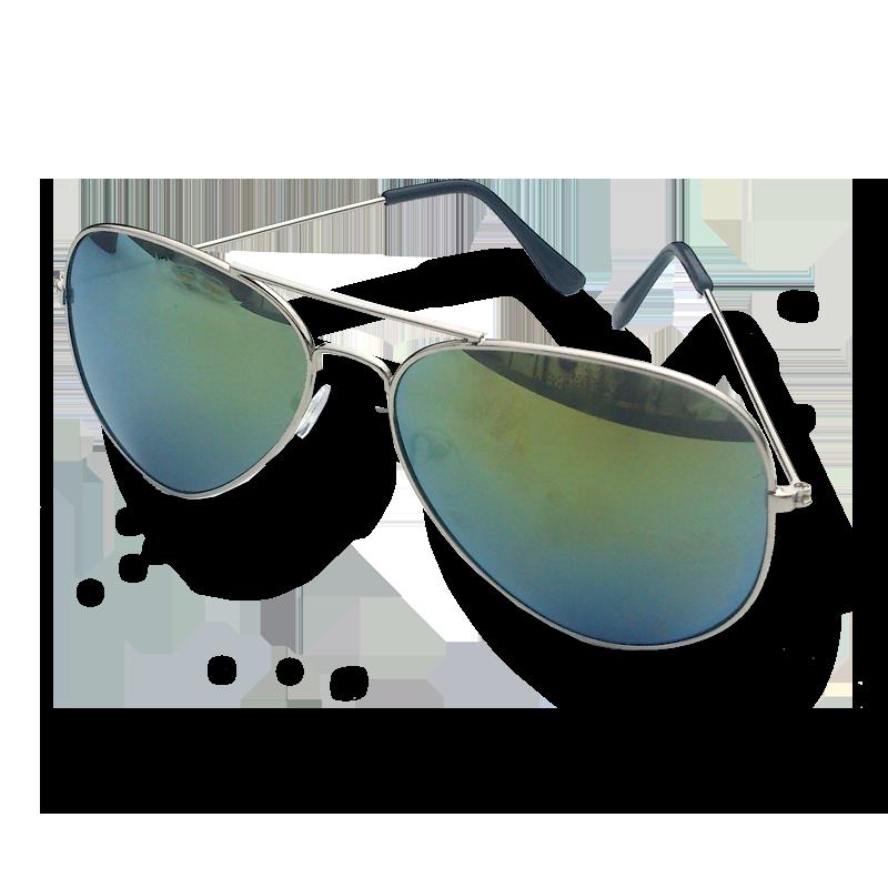 Zonnebril Houston / accessoires / spiegelbril / pilotenbril / geelgroen
