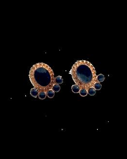 Black Toe Oorbellen / bijoux / earring / zwart - goud