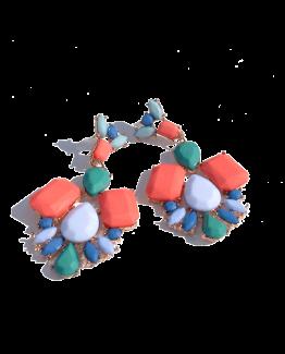 Multicolour Oorbellen / bijoux / budgetline / meerkleurig