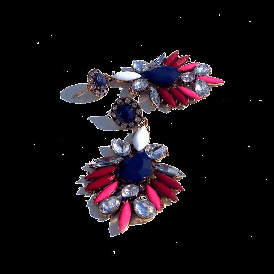 Multicolour Strass Oorbellen / bijoux / budgetline / meerkleurig