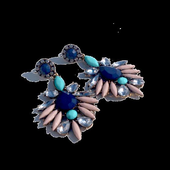 Multicolour Strass Oorbellen / bijoux / budgetline / meerkleurig / versie 2