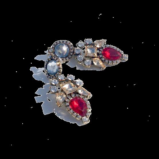 Strass Xtra Oorbellen / budgetline / bijoux / opvallend