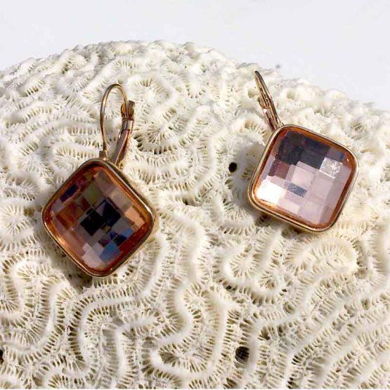 Crystal Shine Oorbellen / bijoux / earring / wit / budgetline