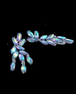 Strassy Oorbellen / bijoux / budgetline / wit-blauw