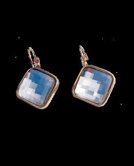 Crystal Shine Blue Oorbellen / bijoux / earring / blauw / budgetline