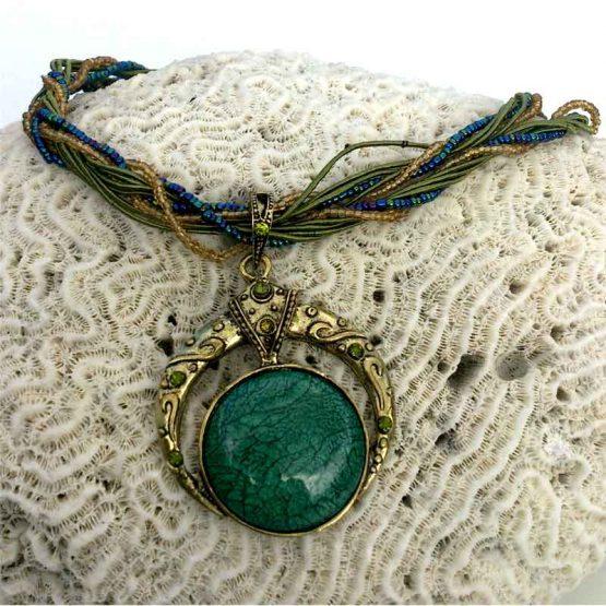Ketting 1001 / bohemian / turquoise / statement / boho