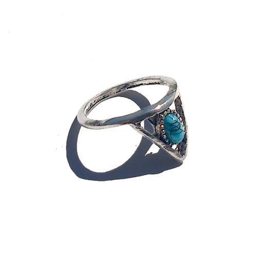 Boho Ring Klein 1 / Bijoux / zilverkleur / Bohemian / Betaalbaar