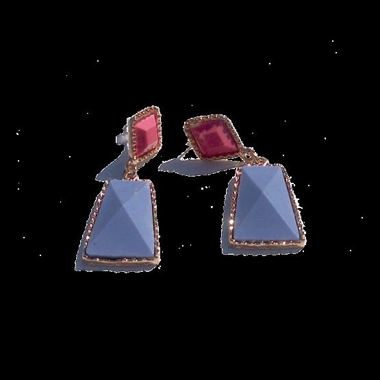 Sweety Oorbellen / bijoux / budgetline / meerkleurig / stopper / paars - roze