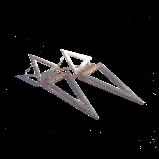 Triangels Oorbellen / bijoux / groot / goud