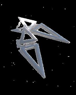 Triangels Oorbellen / bijoux / groot / zilver