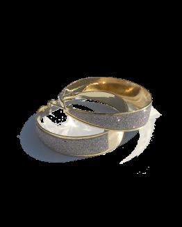 Xmas Oorbellen / bijoux / strass / goudkleur