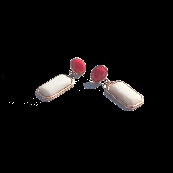 Alice Oorbellen / budgetline / bijoux / wit-rood