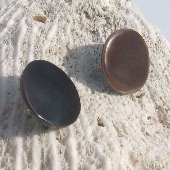 Manouk 6063-1 Oorbellen / bijoux / clips / donkerbruin