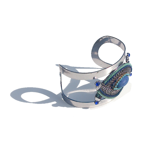 Big Boho Armband / bijoux / bohemian / zilver
