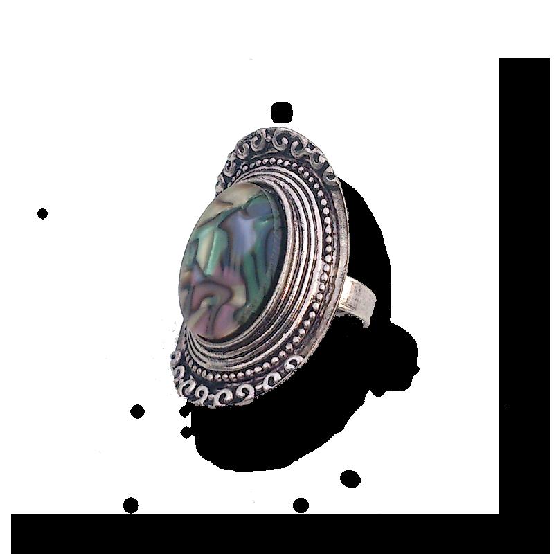 Boho Colour Ring / bijoux/ boho - bohemian / zilver